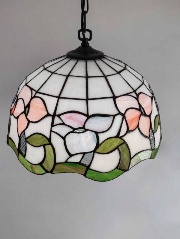 lampadario tiffany con fiori