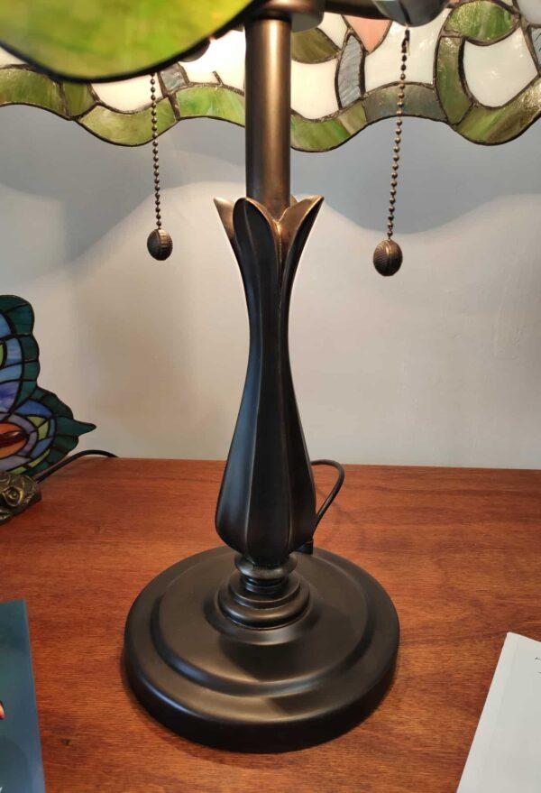Lampada da Tavolo Tiffany con Fiori Rosa Azzurri Viola 2