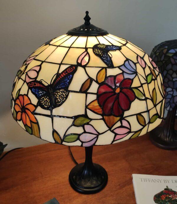 Lampada da Tavolo Tiffany Farfalle e Fiori 5