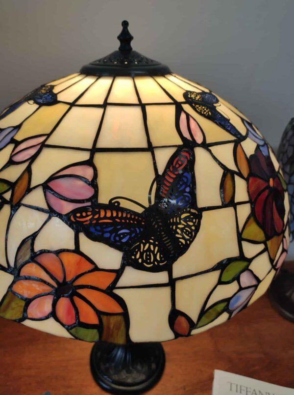 Lampada da Tavolo Tiffany Farfalle e Fiori 12