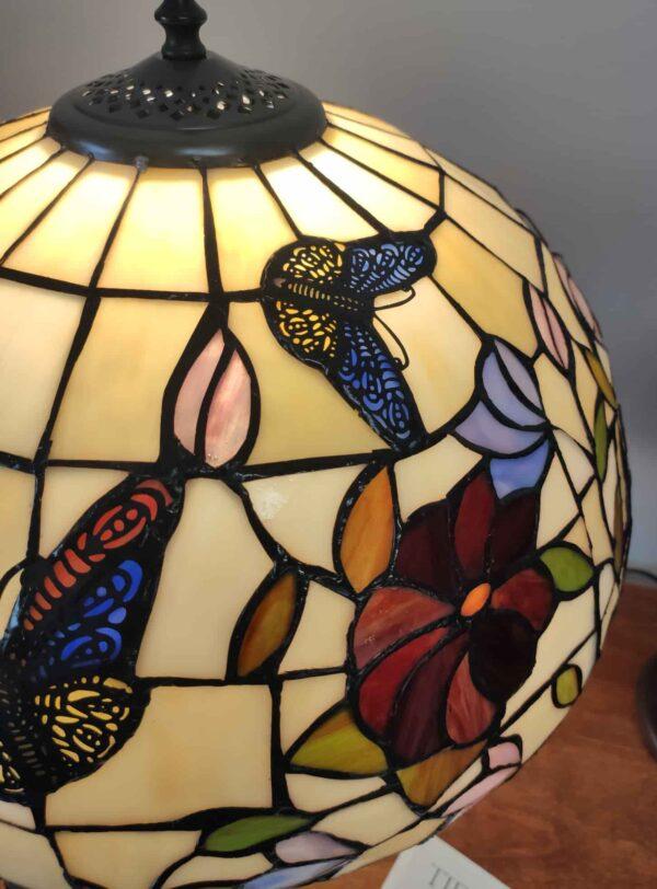 Lampada da Tavolo Tiffany Farfalle e Fiori 11
