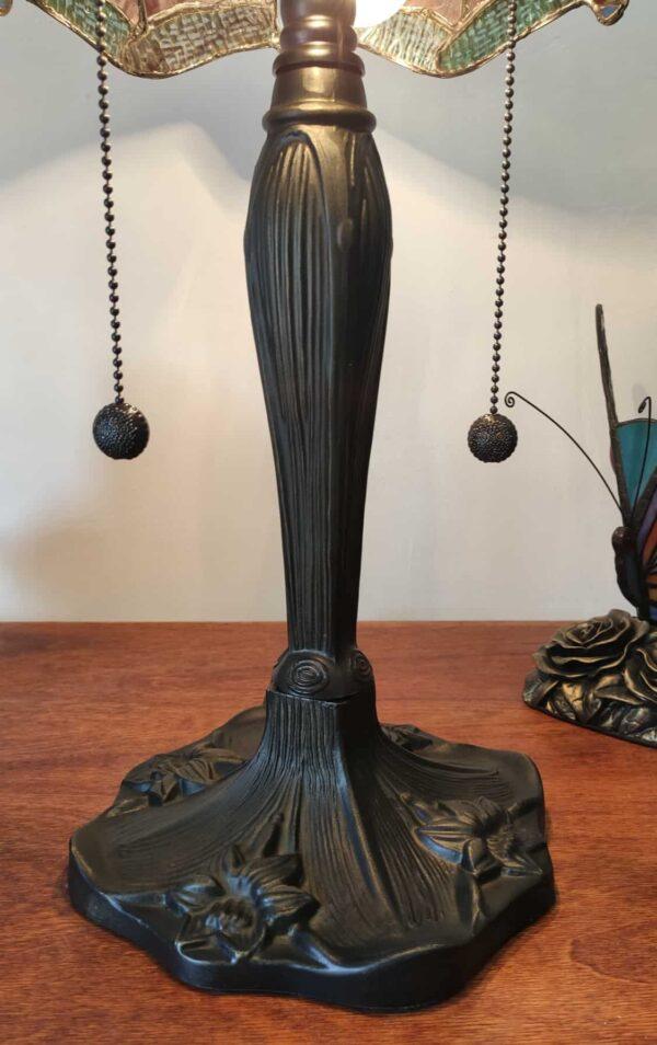 Lampada da Tavolo Tiffany Rossa con Libellule 11