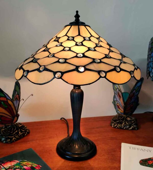 Lampada da Tavolo Tiffany Gialla