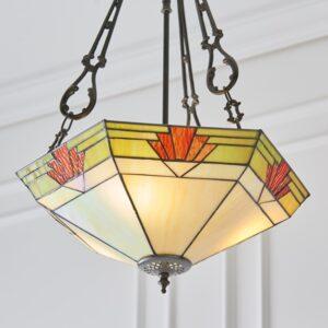 Lampadario Tiffany Esagonale Invertito