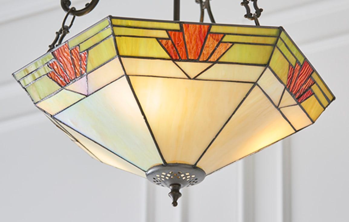 lampadario esagonale invertito lume
