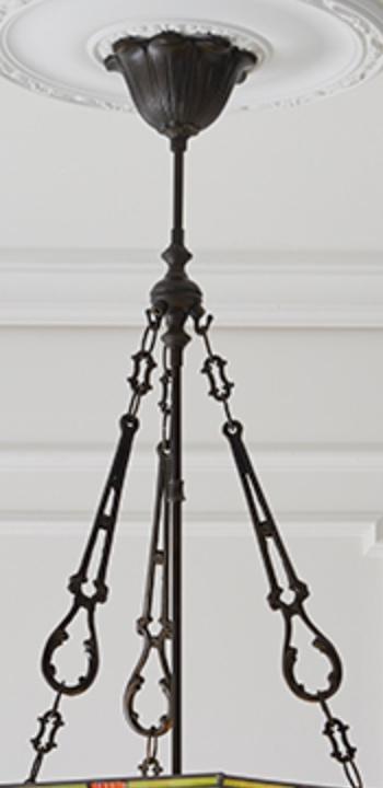 lampadario esagonale invertito montatura