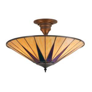 lampadario moderno con vetri iridescenti