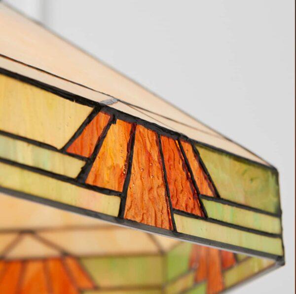 lampadario tiffany esagonale 35cm