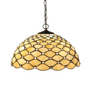 lampadario tiffany giallo dorato