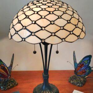 Lampada da Tavolo Tiffany Gialla Dorata Moderna