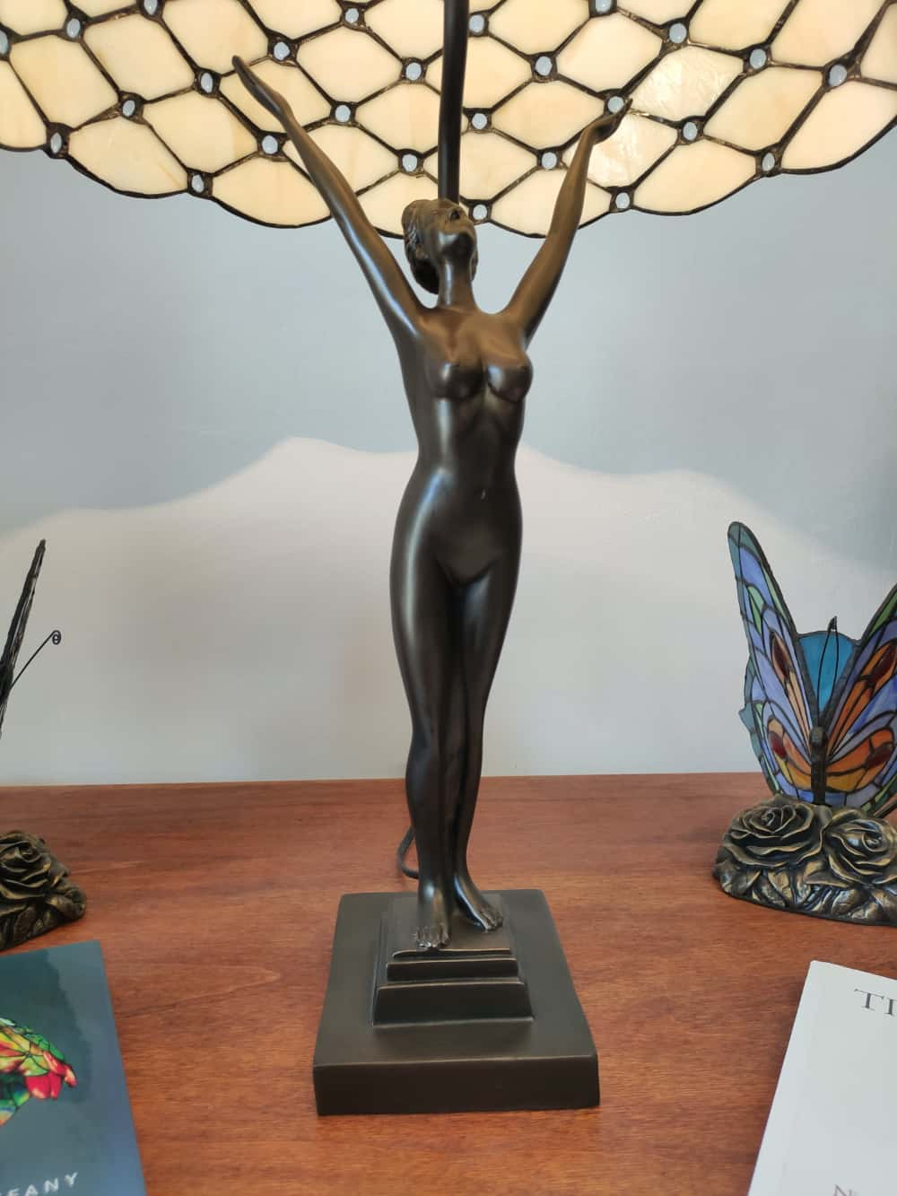base lampada da tavolo tiffany a stutua