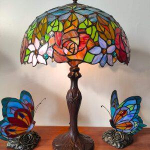 Lampada da Tavolo Tiffany Fiori