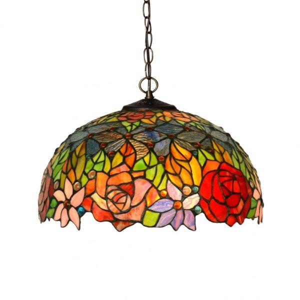 lampadario tiffany fiori